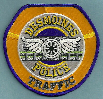 Des Moines Iowa Police Motorcycle Traffic Unit Patch