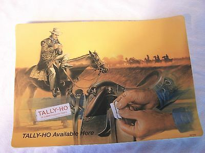 Vintage Tally Ho Cigarette Papers Display Sign Ashtray Tobacco