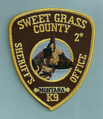 Sweet Grass County Sheriff Montana Police K-9 Unit Patch