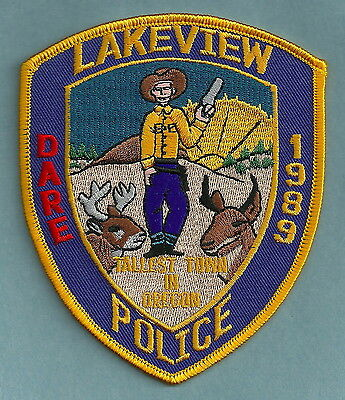 Lakeview Oregon Police Patch Neat!