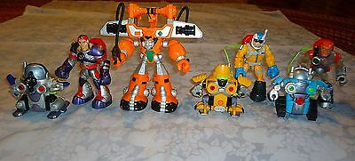 Fisher Price Rescue Heroes Lot Of 7 Figures & Robots (3)