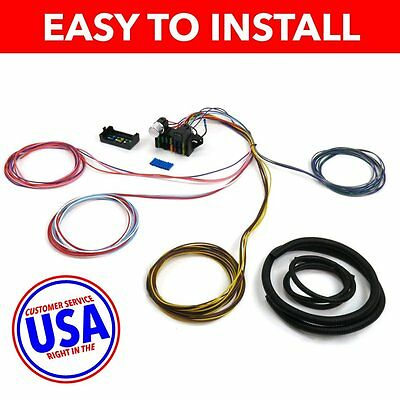 100% brand new 20 circuit wiring harness chevy mopar ford jeep wire harness fuse block upgrade kit for 71 80 vw stranded insulation pvc jaket n