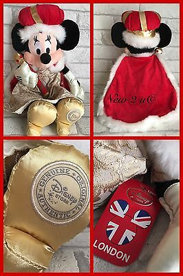 Official Disney Store Minnie Mouse London  Queen Exclusive Rare  Plush Soft Toy