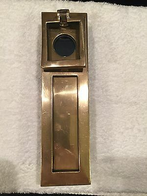 Art Deco Polished Bronze Letterbox  With Integral Opening For Standard Yale Lock