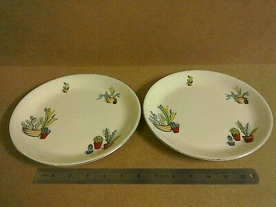 2 x Alfred Meakin Cactus plate vintage retro style rare