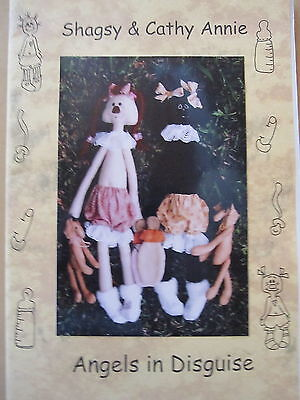 """"""" SHAGSY & CATHY ANNIE """"  Cloth Doll Pattern by Angels in Disguise"""