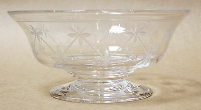 Beautiful Stuart Crystal Etched Footed Bowl Made In England