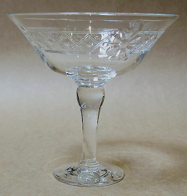 Beautiful Webb Corbett Crystal Etched Comport Made In England