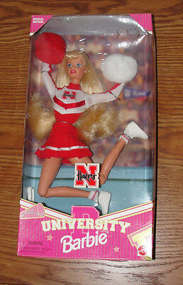 Nebraska Cornhuskers University Barbie Cheerleader NIP