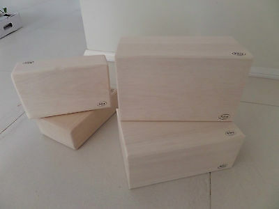 Yoga and Pilates solid balsa blocks DIFFERENT SIZES/GRADES RRP $37