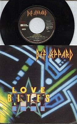 "DEF LEPPARD   Rare 1987 Holland Only 7"" OOP Rock P/C Single ""Love Bites"""