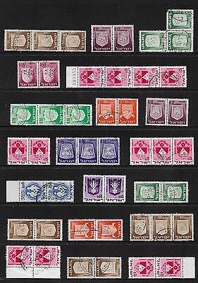 ISRAEL - mixed collection, joined pairs & strips No.1