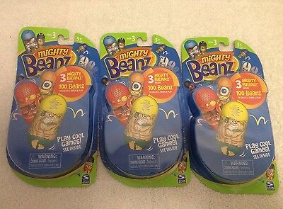 MIGHTY BEANZ series 3 Sealed X3