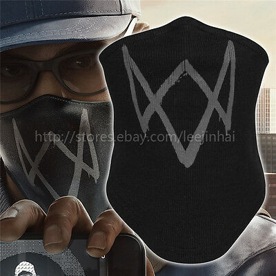Black  WATch dogs 2 mask Marcus Holloway 's Mask Cosplay cotton Rib fabrics