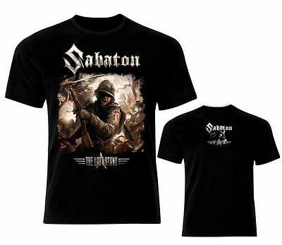 SABATON THE LAST STAND Men Cotton T-shirt Rock Metal Top Camiseta Maglietta