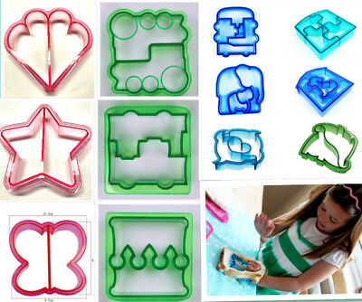 AU SELLER Lunch Sandwich Cake Bread Toast Cookies Biscuit Cutter Mold Mould