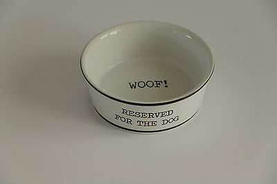 'Reserved for the Dog' Food Bowl