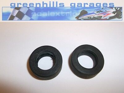 Greenhills Scalextric Formula 1 front tyres pair unbranded  - Used P1979 ##