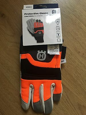 Husqvarna Functional Chainsaw Saw Protection Gloves. Size 8, Small