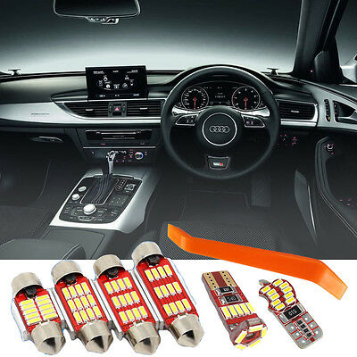 Audi A6 C7 4G Avant 17 LED Interior Kit Bright NEW 4014 SMD Bulbs Error Free