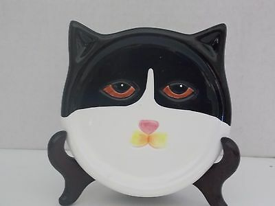 Cat Face Plaque/Plate with Stand