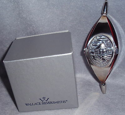 MIB 1990 Wallace Marquis 1st Sterling Silver Christmas Ornament Decoration NOS