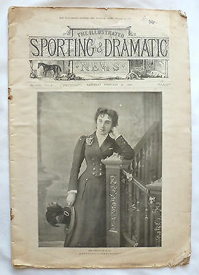 """Orignal Vintage """"Sporting and Dramatic News"""" Paper 1899 Volume 1"""