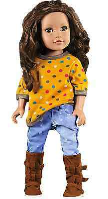 T-shirt Jeans Outfit Sets Doll Clothes For 18 inch American Girl