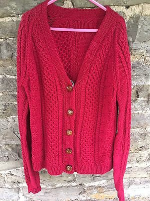 Lovely Children's / Kids Vintage Cable Knit Cardigan