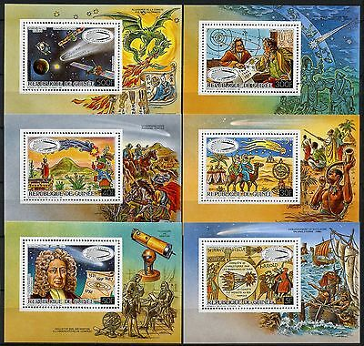 Space Raumfahrt 1986 Guinea Halley`s Comet Komet Block 213-218 A MNH /1322