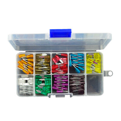 90x Assorted Car Truck Small Size Fuse 5 7.5 10 15 20 25 30 35 40 A Amp Fuses