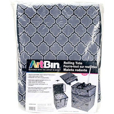 ArtBin Collapsible Rolling Tote-Gray 071617047597
