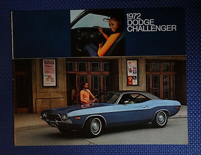 1972 Dodge CHALLENGER Color Sales Brochure - New Old Stock - FREE USA Shipping!