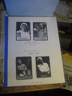 Hobbyist 10 Year History Pga/professional Golf Trading Cards  Reference Book