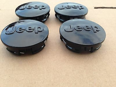 New Set Of 4 Jeep 63Mm Black Center Wheel Hub Cover Caps Emblem Logo 1Lb77Trmab