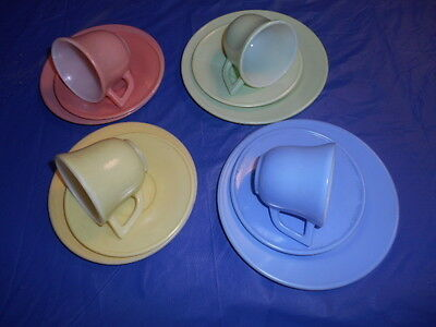 Vintage 12 Piece Multi Color Hazel Atlas Children Dishes Tea Set Kid