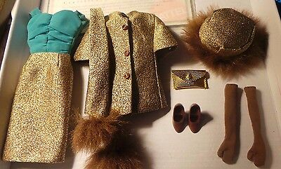 Vintage Barbie Repro #1647 Gold N Glamour Outfit Reproduction Dress Hat Purse