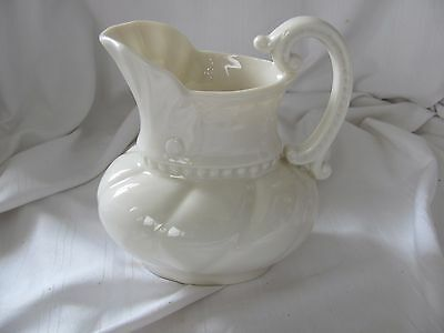 """Lenox ivory syrup pitcher old green mark Victorian style 5"""" tall beaded shell"""