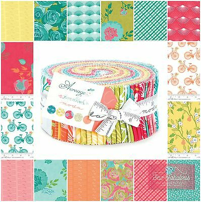 """Moda Jelly Roll 40 of 2.5"""" x 42"""" Fabric Strips in Acreage Collection 100% Cotton"""