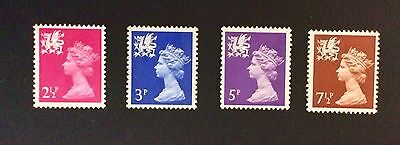 Four Mint Welsh Definitive Stamps Decimal