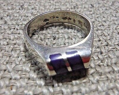 Taxco Mexico Mexican Sterling Silver Ring W. Azuremalachite Stone--Marked 925