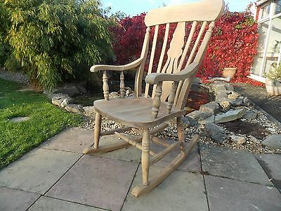 ROCKING CHAIR stripped wood