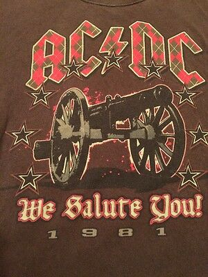 AC/DC We Salute You! 1981. Vintage Classic Tour Shirt For Those About To Rock XL