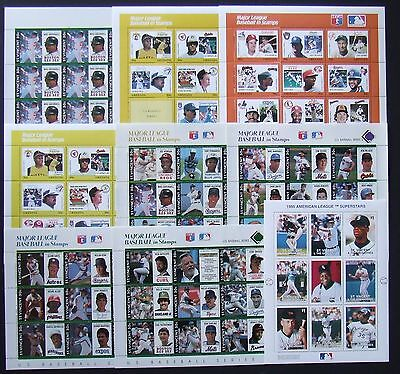 Lot Grenada and St. Vincent -  Baseball, 9 M/Sh, MNH, D 236, see 3 scans