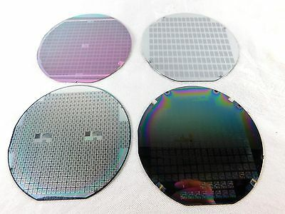 Set of (4)  Silicon Wafer Wafers w/ Patterns