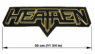 HEATHEN logo BACK PATCH embroidered NEW thrash metal