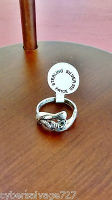Double Manatee 925 Sterling Silver Ring Size 7
