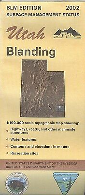 USGS BLM edition topographic map BLANDING Utah 2002 - surface
