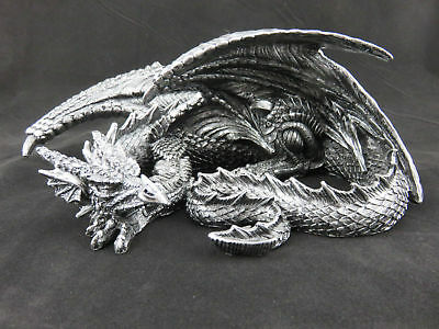 Large 32cm Sleeping Dragon - Ornament / Statue or Wall Plaque, GOTHIC FANTASY