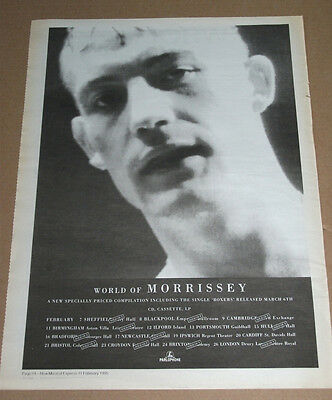 World Of Morrissey - The Smiths -  1995 Vintage Original Advert Poster Nme
